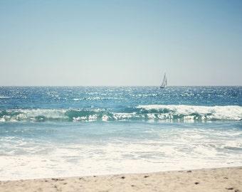 Sailboat, Newport Beach, California - 8x10 Fine Art Photograph