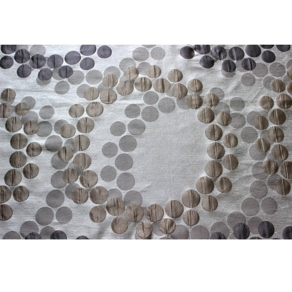 Pearl Silver N Grey Swirls Curtain Fabric Upholstery
