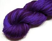 Extrafine merino wool yarn fingering weight handdyed yarn 97-100g (3.4-3.5oz) - Blue violet