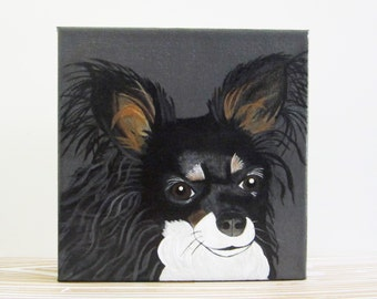 dog portrait, pet portrait, pet gift idea- custom pet portrait- dog painting-dog lover gift idea-8x8 or 12x12 custom painting of your dog