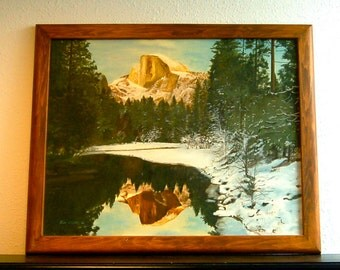 SALE Yosemite, Original Oil Painting, Half Dome, Signed & Framed.