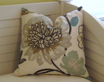 Gorgeous Pearl Gray Flower Designer Pillow Cover