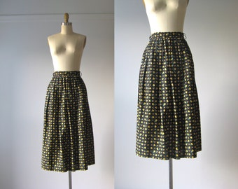 vintage 1950s skirt / 50s skirt / Voice of the Prairie
