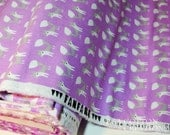 Organic Cotton Flannel Fabric, For Baby and Children, Purple Foxes print from Fanfare Cloud9 Collective By Rae Hoekstra