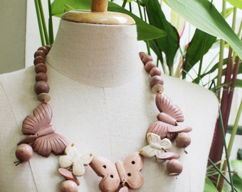 Coconut Shell Beads Necklace - CL1409-15