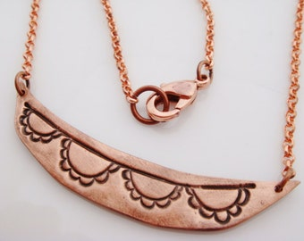 Simple Copper Necklace Copper Bunting Banner Necklace