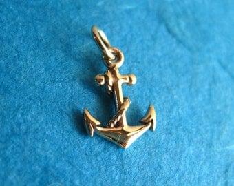 Bronze Anchor Pendant or Charm