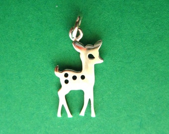 Sterling Silver Fawn Pendant Charm
