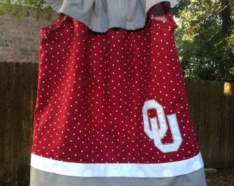 Oklahoma Sooners inspired dress