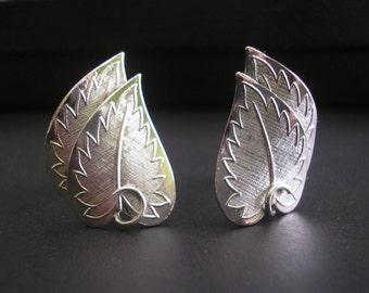 Vintage Silver Tone Coro Clip Earrings