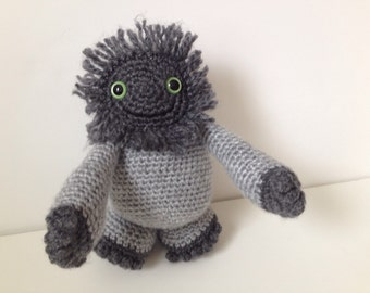Crochet Monster Grey Amigurumi