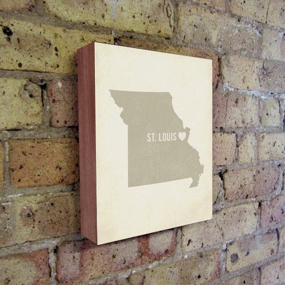 St. Louis Art Print - St. Louis - St. Louis Art - St. Louis Missouri - I Love St. Louis - Wood Block Art Print
