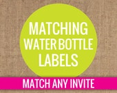 Matching Water Bottle Labels - DIY Printable