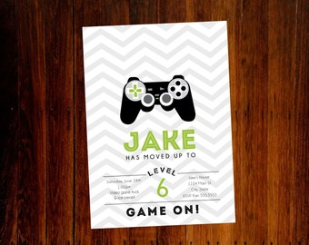 Video game birthday invitation - digital file