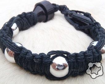 """Shhmokewear """"Super Stealth"""" Glass HEMP Wrist Hookah Bracelet Pipe"""