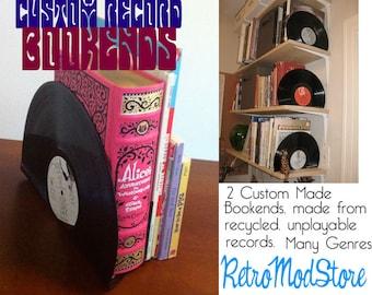 Custom Made Vinyl Record Bookends
