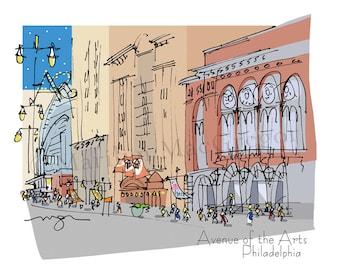 Philadelphia Avenue of the Arts fine art print 2 sizes