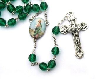Saint Jude Catholic Rosary Beads