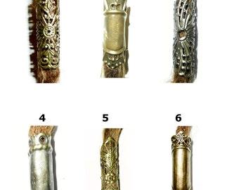 pick style: filigree brass ethnic dread bead tube