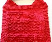 Knitting Pattern - BIB  - TRAIN - PDF