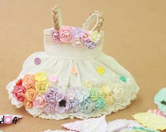 Blythe / YOSD Rainbow Flowers dress
