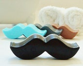 MUSTACHE SOAP - Choose Scent & Color, bath, party favors, baby shower, birthday, boys, girls, tween, teen, kids, men, little man