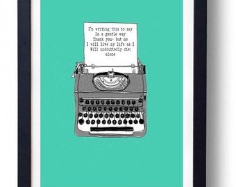 Morrissey Will Never Marry inspired Art Print