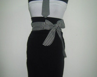Beautiful and stylish black and white suit of four parts