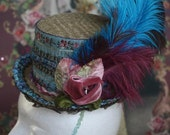 Vintage Trim With Feathers Top Hat