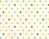 Multi-Dot, Guess How Much I Love You, Anita Jeram Cotton Quilting Dot fabric, Half Yard