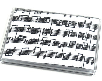 Card Case Mini Wallet Music Notes