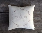 Couple Pillow, Personalized Couples Gift, Me & You Pillow Cover, Decorative Text Pillow, Personalized Wedding Gift, Throw Pillow Home Decor