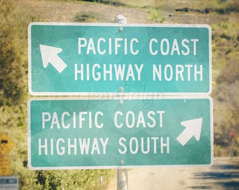 pacific coast highway signs - california wall art - road sign photography - pch1