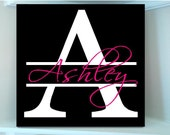 Beautiful Personalized initial 8x8 girls monogram wooden sign