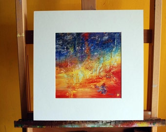 """16"""" x 16"""" Delusional Sunset Matted Print"""