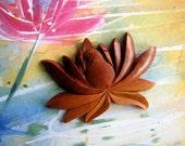 Eternity Lotus Large Carved Sawo Wood Embellishment