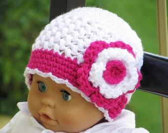 Crochet Beanie Hat Pattern for Baby, Crochet Beanie Pattern, Newborn to Woman sizes, Sofia Beanie