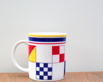Vintage Nautical Yachting Signal Flags Coffee Mug