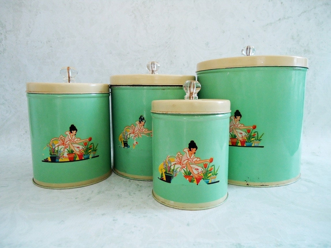 vintage kitchen canisters sets 28 images vintage