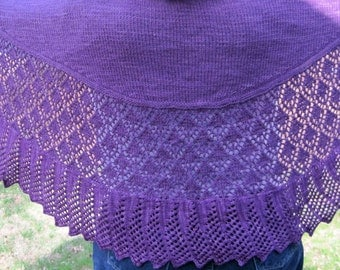 Knit Shawl Pattern:  The Cat's Meow Shawl Knitting Pattern
