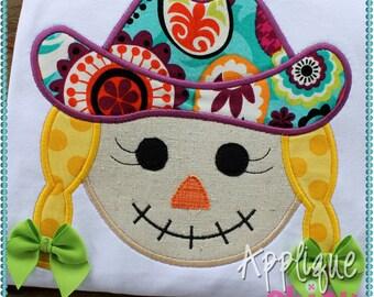 Scarecrow Girl Applique Design