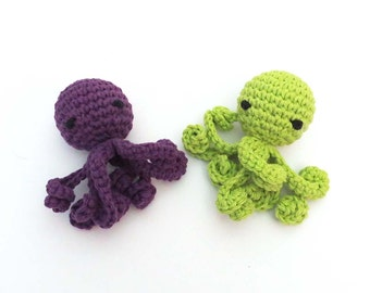 Jingle Bell Octopus with Long Squiggly Arms Cat Toy - Choose Your Colors