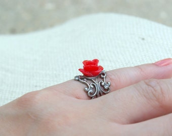 Mini Me Red Rose Ring
