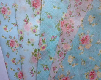 Shabby Chic 5 sheet VALUEPACK of edible image wafer papers FULL SHEETS