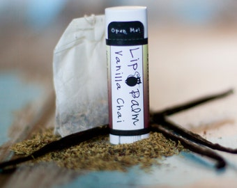 Vanilla Chai Natural Lip Balm - Flavored Beeswax Lip Butter Vanilla Chai Lip Balm Tube