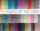 Choose 5 yards of Fold Over Elastic Prints