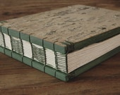 custom birch bark guest book - cabin guestbook personalized  green moss forest wedding wood book rustic green woodland - made to order