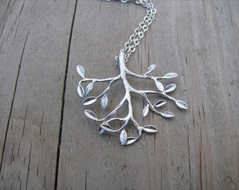 SALE- Family Tree Necklace- silver