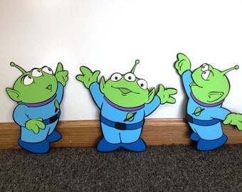Toy Story Aliens set Decoration - Stand Up standee Photo Prop, Toy Story Decor