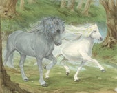 Enchanted Horses Signed Print